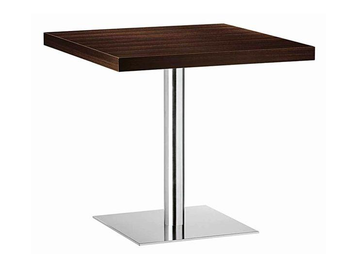 Tavolo quadrato in acciaio e legno XT 480T by Metalmobil