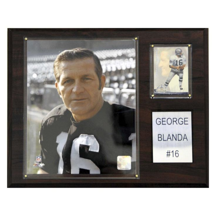 NFL 12 x 15 in. George Bland Oakland Raiders Player Plaque - 1215BLANDA