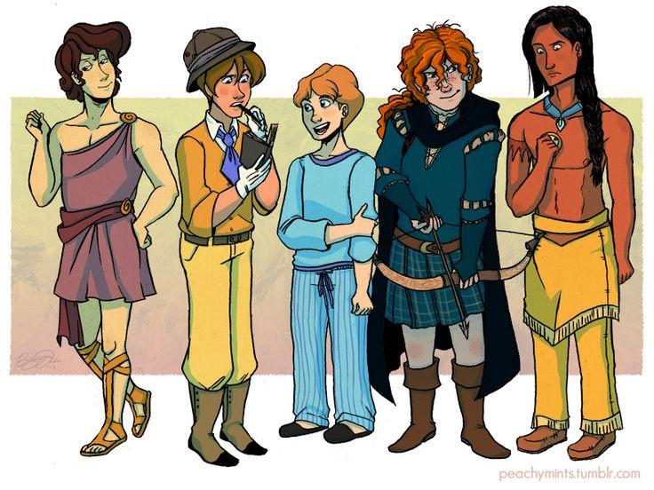 Rule 63 Disney - Megara, Jane, Wendy, Merida, and Pocahontas