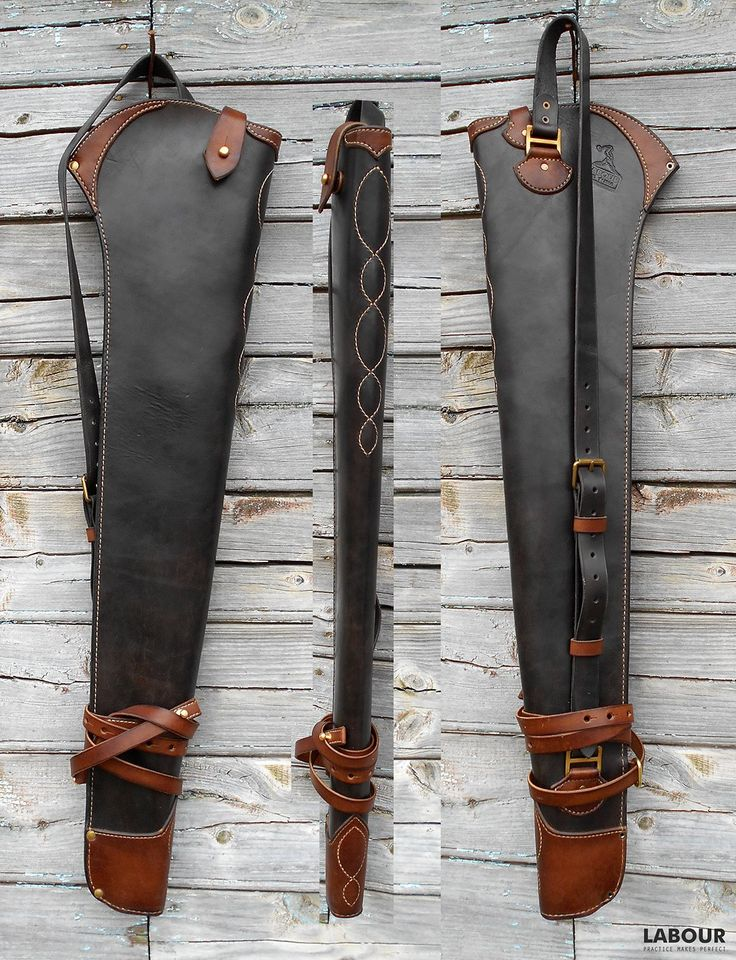 Custom Leather Shotgun Or Riffle Scabbard Pic 2 Leather
