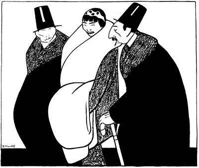 Eigil Schwab (1882-1952) Graverande bevis  - Och tänk Cederlöv, som gått och blivit religiös! - Hur vet du det? - Jo, han har begärt utträde ur statskyrkan.