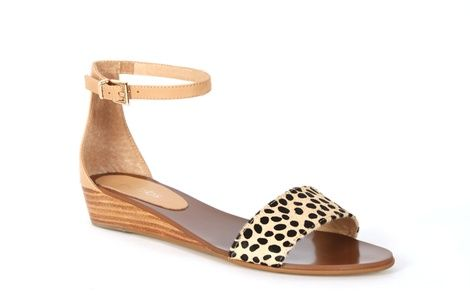 Wedge sandals - great with a dress like the Lisa dress! Tibi leopard hero