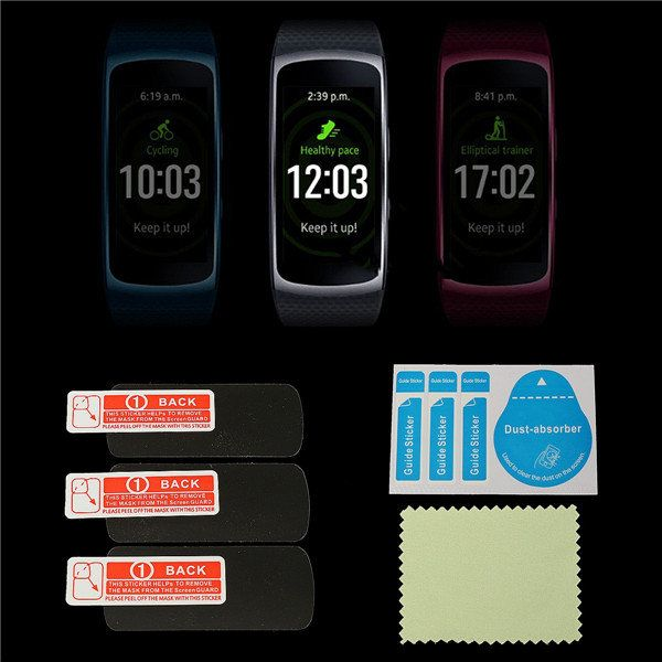 3Pcs Anti Scratch Frosted Screen Protector Films Shield For Samsung Gear Fit 2…