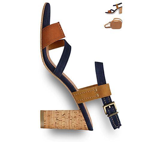 #Block #heel, #brown #shoe, #summer, #seventies, #70s #trend #2016 #tamaris