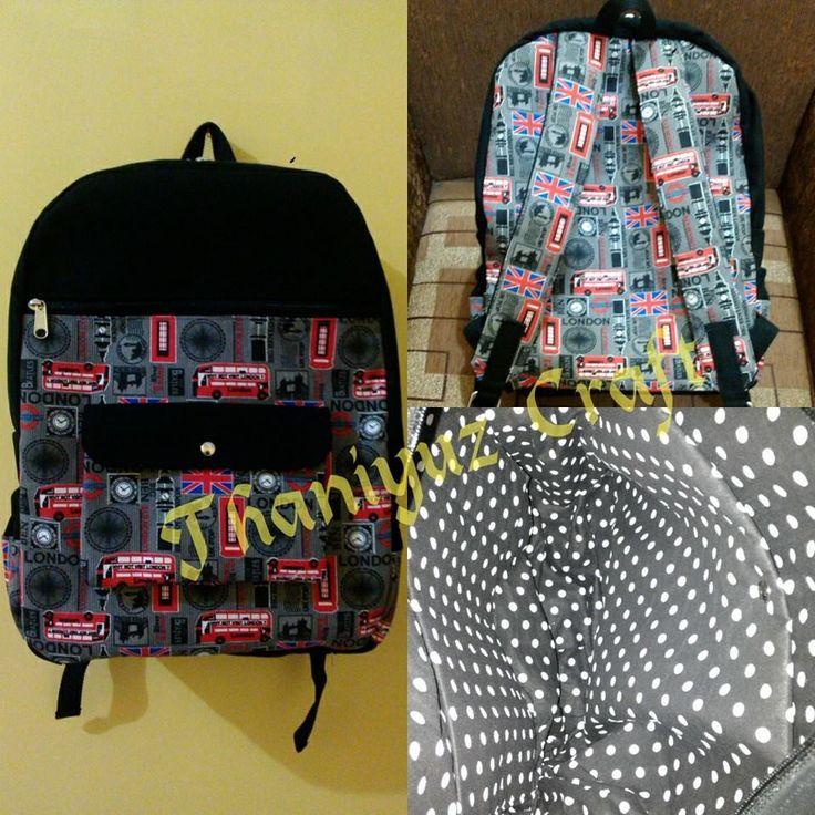 Backpack kanvas motif London
