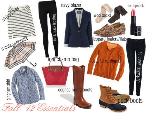 Preppy basics. Although I'd rather have a burberry or a louis vuitton over the longchamp