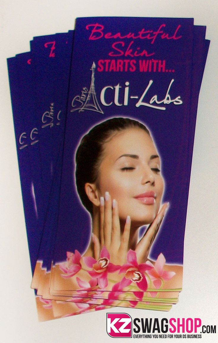 50 - ActiLabs Skin Regimen Tri-Fold Brochure - Blank
