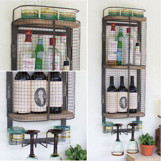Hanging Wine and Liquor Cabinet