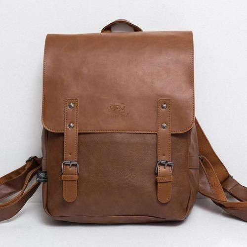 The Gentleman    Our gentleman has a sleek leather inspired look. His classic style never fails to impress. Retro at its finest!   Please check the measurements as this is a light and smaller sized backpack.