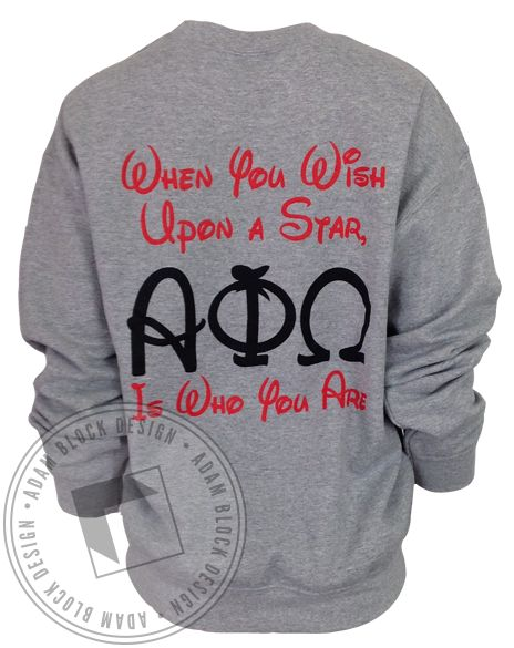 Alpha Phi Omega When You Wish Sweatshirt