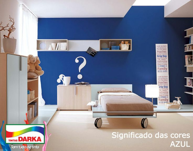 Fascinating Kids Room Design With Blue Wall Accent, Wheeled Bed And  Floating Bookshelves By Italian Designer Berloni Part 74