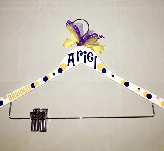 Personalized uniform hanger, cheer uniform hanger, dance, drill team hanger, cheerleaders, team gift, Christmas, Cheer Summit, D2 Cheer Summit, Cheer Worlds All hangers can be customized with your name or team. You can also add your sport, gym, school or mascot. Hangers are