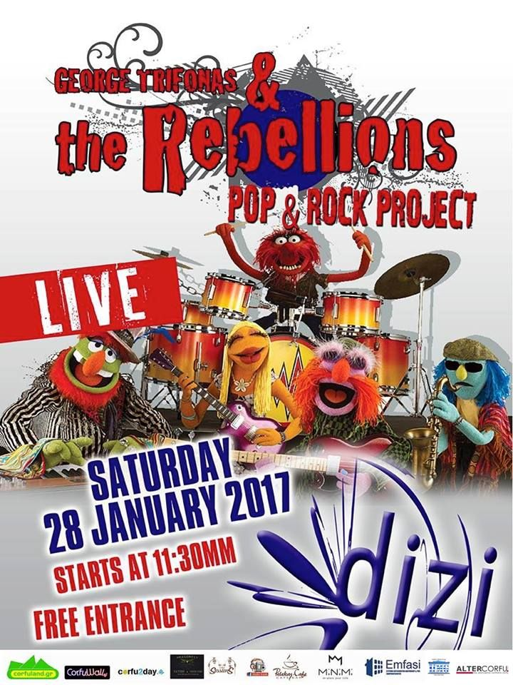 The Rebellions Live στο Dizi Bar το Σάββατο 28 Ιανουαρίου. Διαβάστε περισσότερα...