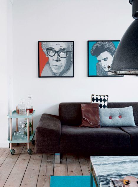 Cool løsninger i TV-værtens rækkehus - Boligliv