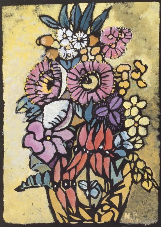 Margaret Preston - Sturt's desert pea stands out at the centre