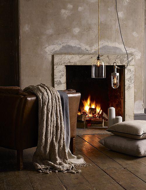 feu de cheminée, atmosphère zen et cocooning