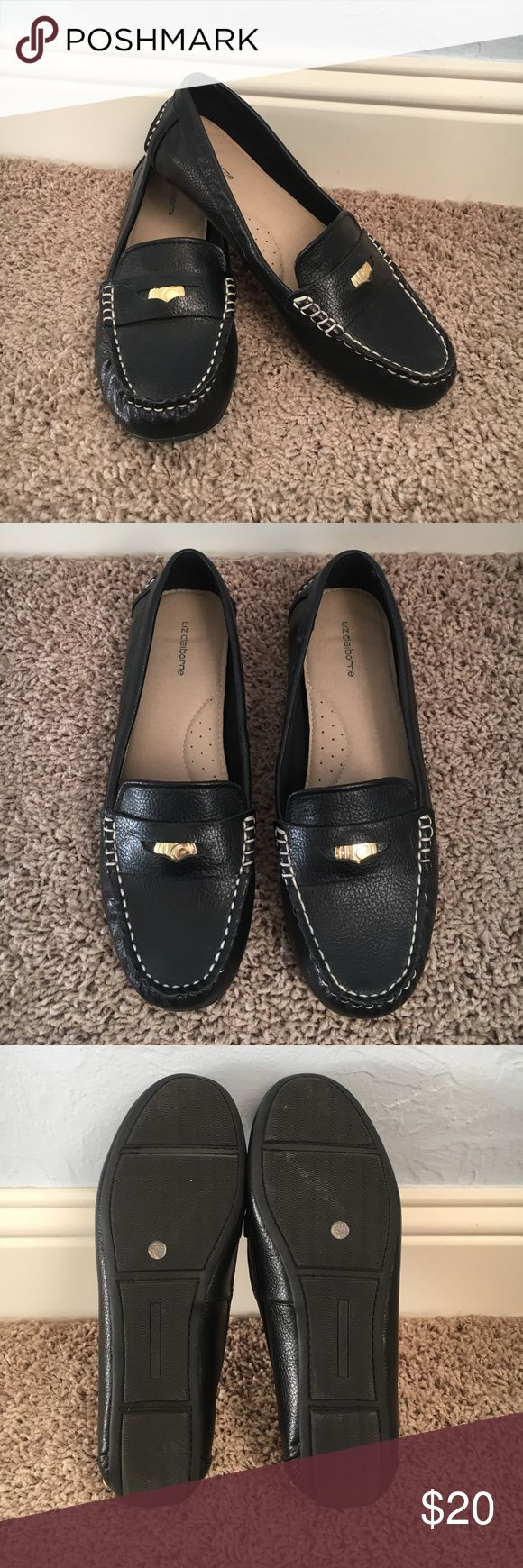Liz Claiborne driving loafers, 7 1/2 Worn once, too small for me. Excellent condition, appropriate for work attire or casual dress. Liz Claiborne Shoes Flats & Loafers