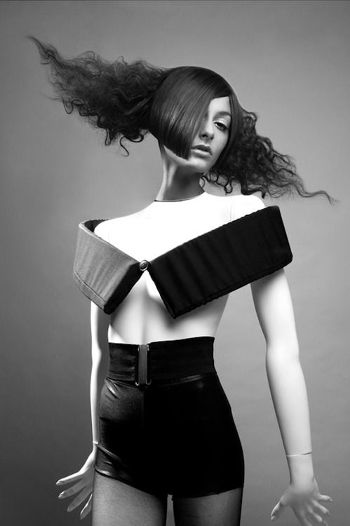 Ara Sassoonian - Black Avant-garde fashion.    Repinned by http://TommyAndersson.com - Visit my Pinterest at http://pinterest.com/tommyandersson/ -  #TommyAndersson