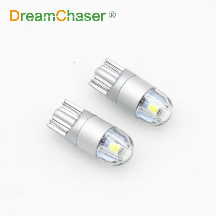Cazador de sueños 2 unids T10 w5w led Luces de Posición del coche de Señal de Vuelta lámparas de luz de la matrícula del tronco blanco orange crystal azul rojo 12 v