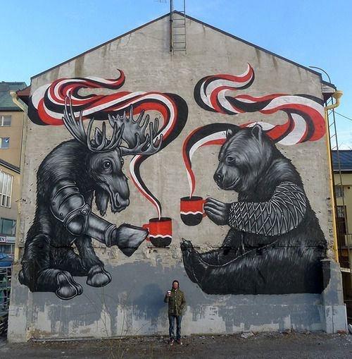 Canadian graffiti?: Jukka Hakanen, Street Artists, Urban Art, Graffiti, Finland, Big Bears, Pallo, Art Street, Streetart