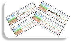 matrice écriture prénom cursive lignage dys