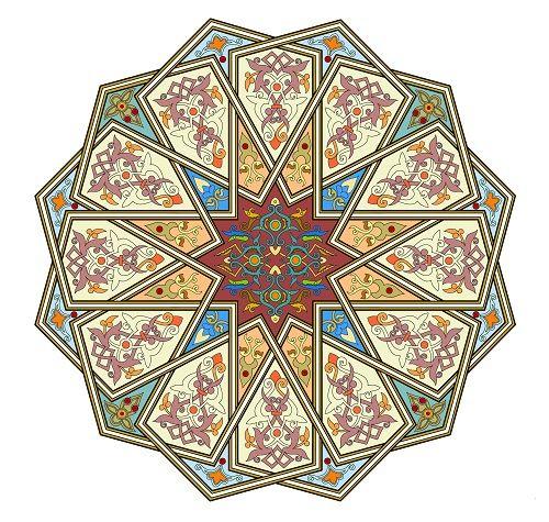 عکس نقوش و طرح های اسلیمی