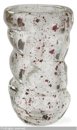 THURET André,Vase cylindrique à corps vrillé de larges bandes,Tajan,Paris