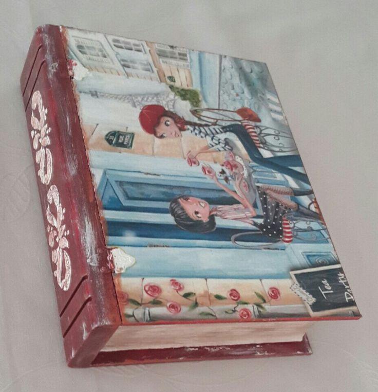 ahsap boyama kitap şeklinde kutuları seviyorum