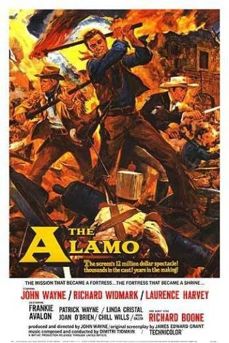 John Wayne / The Duke - The Alamo Movie Poster / Print 24X36 INCH / ART SILK POSTER /