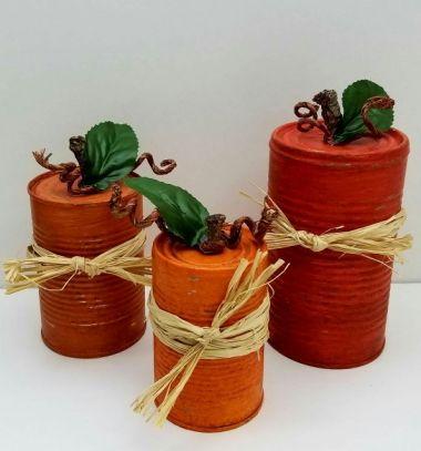 Easy DIY tin can pumpkins – fall decor // Őszi tökök konzervdobozokból egyszerűen - őszi dekoráció // Mindy - craft tutorial collection // #crafts #DIY #craftTutorial #tutorial #UpcyclingCraft  #TinCanCraft #Upcycling #RecyclingCraft
