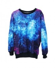 Loose Fit T-shirt with Galaxy Print