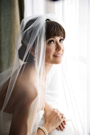 Bride with Bangs | photography by http://nextexitphotography.com
