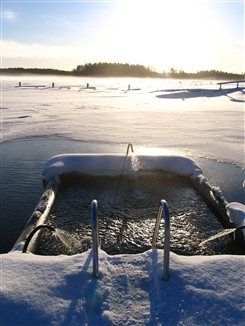 Place for Ice swimming, Lehmonkärki, Asikkala