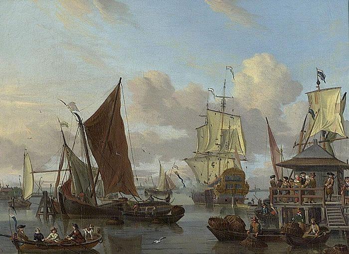 Shipping off Amsterdam