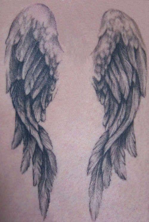 Angel wings tattoo ..