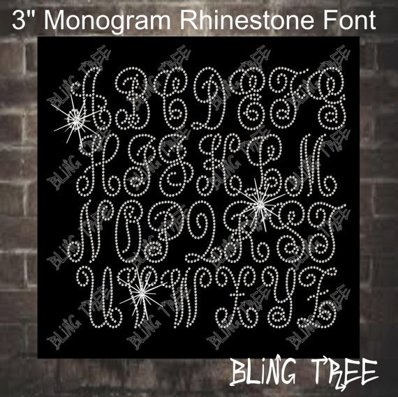 Rhinestone Font Download 3 Inch Monogram Met Gala 2015