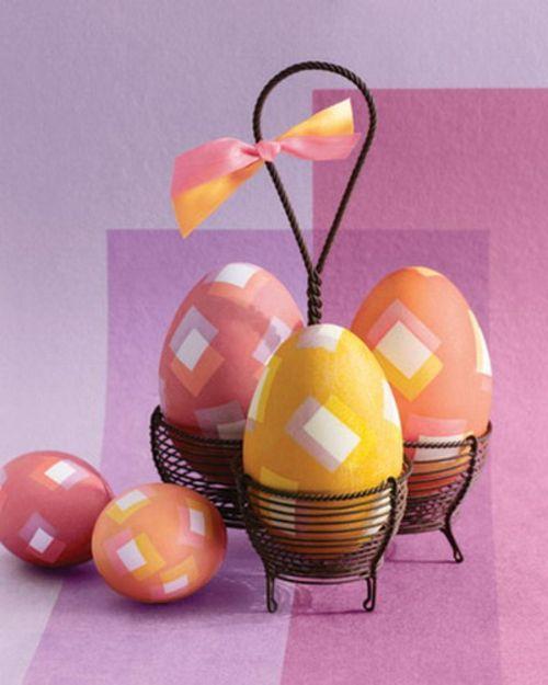 décoration panier oeufs Pâques