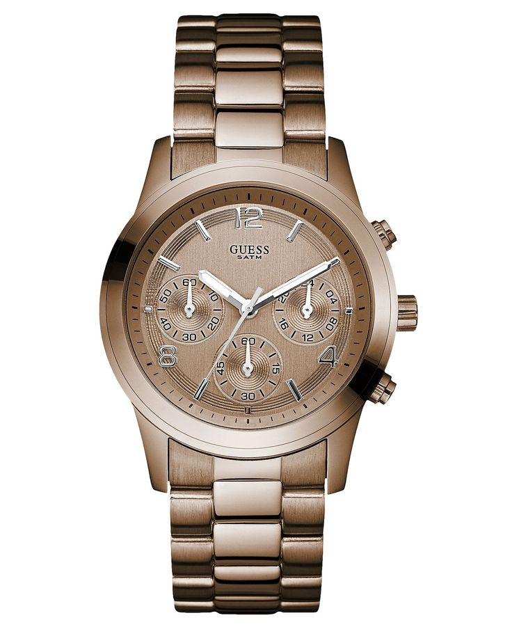 GUESS Watch, Women's Chronograph Bronze Tone Stainless Steel Bracelet 39mm U14506L1 - Women's Watches - Jewelry & Watches - Macy's