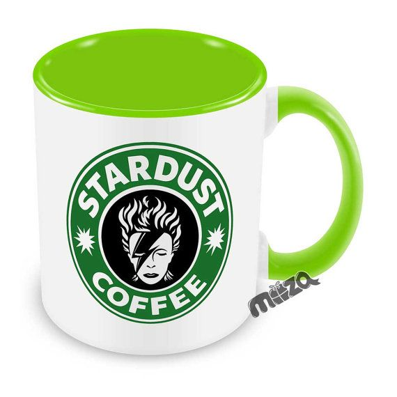 Stardust Coffee Mug  David Bowie Inspired Cup Ziggy by MozaGifts
