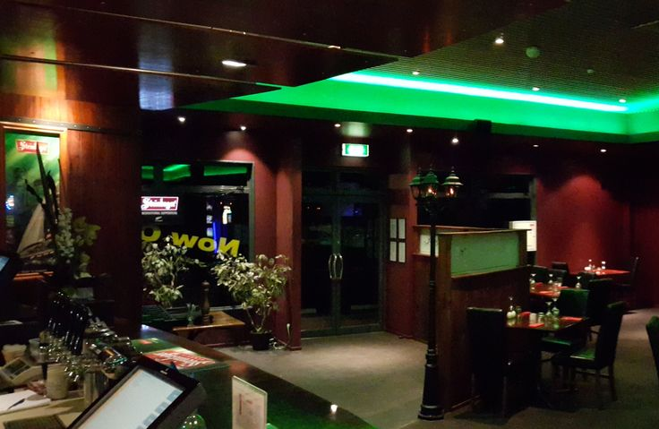 Green LED strip lighting. Very Cool Project Done by Jagger & Co