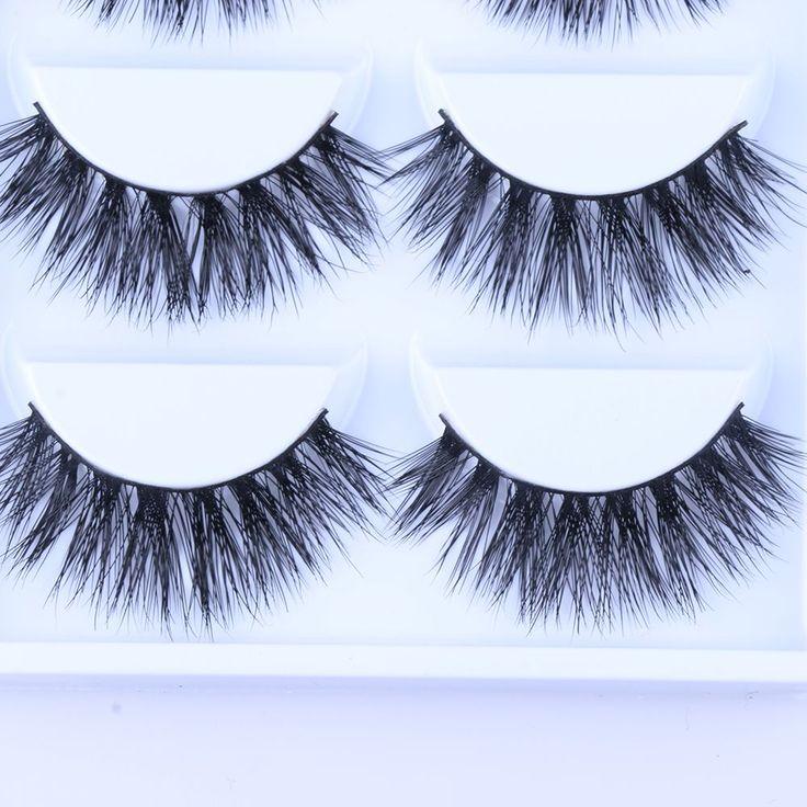 Hot 5 paires sexy 100% vison cheveux naturel épais main faux faux eyelashe 3d beauty longs cils maquillage extension haute qualité dans Faux Cils de Beauté & Santé sur AliExpress.com | Alibaba Group
