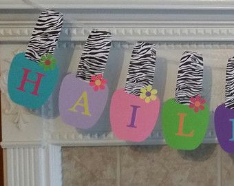 Spa Birthday Party Banner in Hot Pink and by sweetheartpartyshop