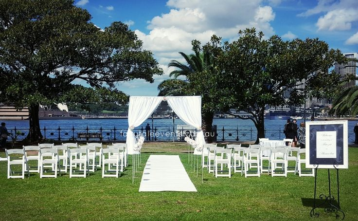 Outdoor Ceremony Bradfield Park by Fairytale Events