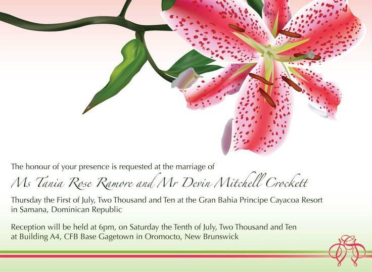Wedding Stationary – Design / Illustration / Layout – for Devin and Tania Crockett.