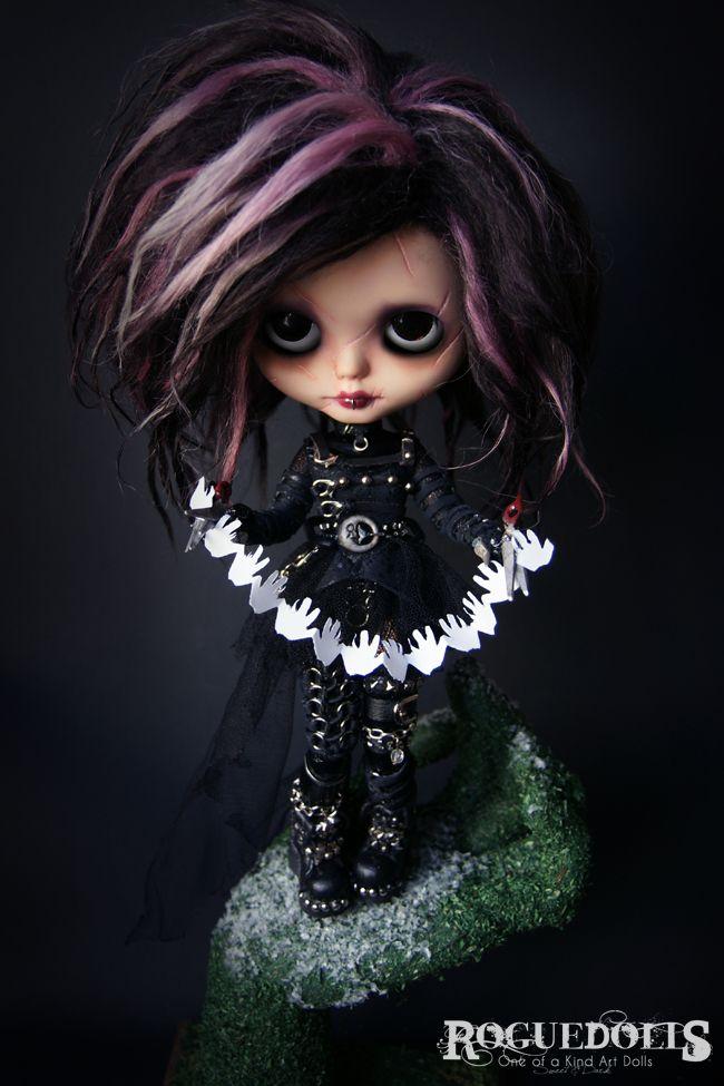 108. Edward Scissorhands custom blythe art doll (ooak blythe) for adoption, by…