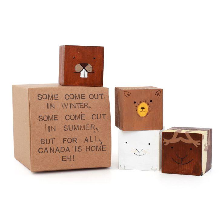 Wooden Animals Block Set by Anitas Peg Dolls