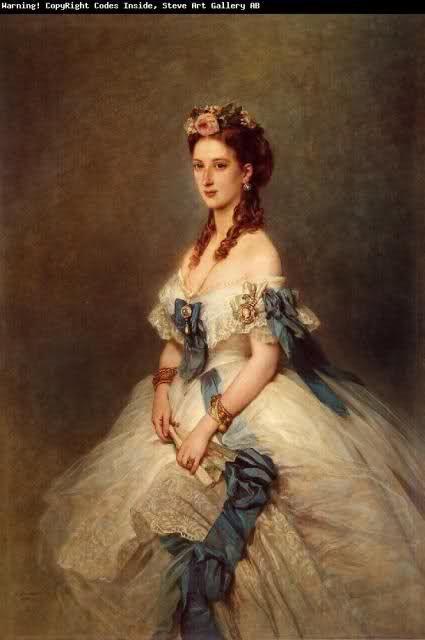 Alessandra di Danimarca, principessa del Galles, nel dipinto di Winterhalter, del 1864: ha vent'anni.