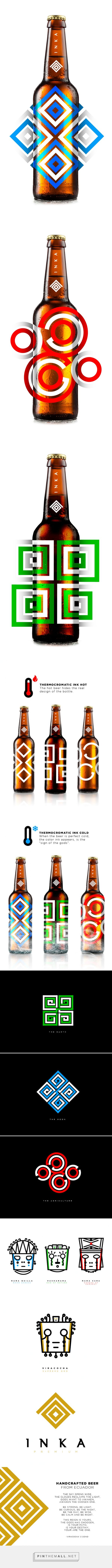 Inka Premium #Beer #packaging#branding http://www.packagingoftheworld.com/2015/01/inka-premium-beer-concept.html