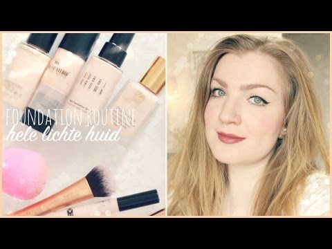 Mijn foundation routine | foundations voor de hele lichte huid | veracamilla - YouTube