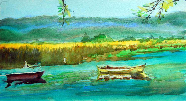 Boats in Lake İznik II